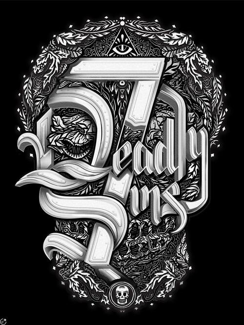 [#Typographie] 7 Deadly Sins by ilovedust http://t.co/BCeuh286RA