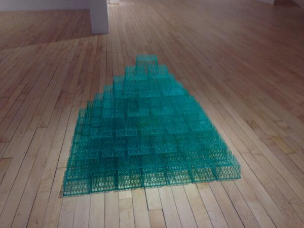 3 great shows @BronxMuseum including the magical #TonyFeher. Love his little Lewitt out of plastic fruit baskets. http://t.co/v5nvDD7uyH