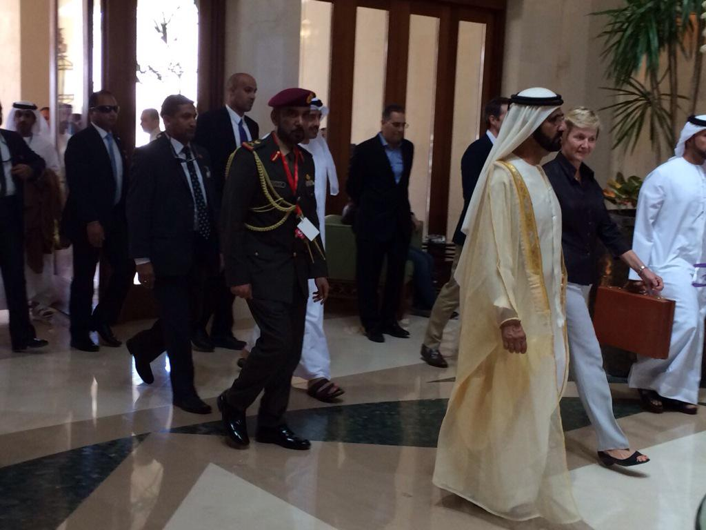Prime Minister of UAE Sheikh Mohammed bin Rashed Al Maktoum arrives to attend #EEDC2015 in Sharm El-Sheikh http://t.co/RzI9DWKPSJ
