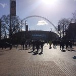 Heres the view heading up Wembley Way... #CFCWembley http://t.co/5yPVlMvE3f