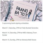 SO happy to announce #PaanoBaTo book signing schedules in BGC, for those in metro South, and Davao!! See you?? ???????? http://t.co/Q9auNCSfMd
