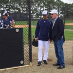 Past & present with Brad Ausmus and Jim Leyland. #Tigers http://t.co/A9ZlLjKoYE