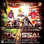 MARCH 21, SPRING GAME AFTER PARTY 🏈  LOYALTY2⃣  BIG TICKET3⃣ COLOSSAL🎬  FREE BBQ 3/20 😋  http://t.co/H7nChV8Jcy
