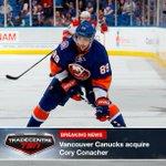 #TradeCentre: @VanCanucks acquire Cory Conacher from @NYIslanders in exchange for Dustin Jeffrey. http://t.co/eGunbetp7S