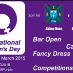 Supporting @AbbeyRFCLadies v @MarlowLadies at home this Sunday, are you? #IWD2015 #oneclub @getreading @rdgchronicle http://t.co/Zg2ZrNHZKy