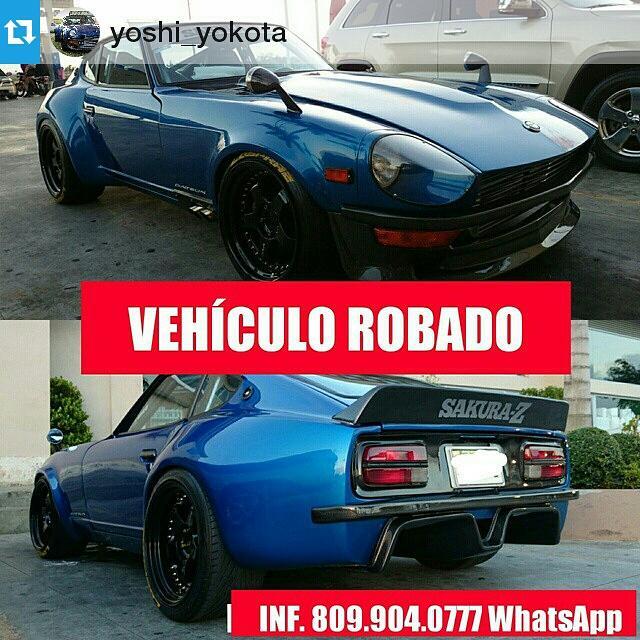 Atención @PoliciaRD VEHÍCULO ROBADO DATSUN 240Z '71 (El mismo de la foto) información del dueño en la imagen. Dale RT http://t.co/lLC6R655nn