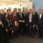 Family photo at #MWC15 with commissioner @GOettingerEU and the #5G #5GPPP researchers http://t.co/hgS3UkfFLz