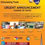 Urgent Notice #ZITF2015 #twimbos #Zimbabwe @TweetZimbabwe @SirNige @ZimTradeAlerts @MarketingInZim @makhosinkanyiso http://t.co/ohUyIsLZNe