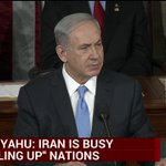 """Bibi: Instead of joining community of nations, """"Iran is busy gobbling up the nations."""" http://t.co/lRHBIp0obJ http://t.co/KloISQoBmA"""