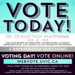VOTE TODAY! Voting opens @ 9am for @uvss BoD, International Student Rep, @uvic Senate & BoG! http://t.co/bluvSvzl8b http://t.co/uAAZQ62mLx