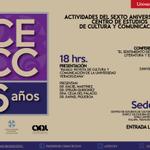 @TiendaUV Actividades del 6 Aniversario del #CECC #UV, miércoles 11 de marzo http://t.co/o8Q0ykD8Q3 http://t.co/Ir4N5kiOLJ