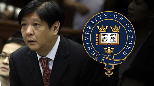 RAPPLER EXCLUSIVE: Oxford University confirms Sen. Bongbong Marcos got only 'special diploma' http://t.co/rnQMGYDpaS http://t.co/6D0UNRJ12R