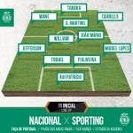 Aqui está o nosso 11 inicial no jogo da Taça de Portugal! #DiaDeSporting http://t.co/FXYN1RzP5Y