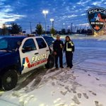 Officers gabbing some coffee to stay warm as the snow clouds depart the area @CityOfArlington http://t.co/R7kSDPNOzu