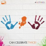CAN celebrate twice! Micromax wishes a very Happy and safe Holi to all. #IndvsWI http://t.co/jeK8q3MFeT