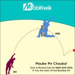 RT & give missed call on 1800-200-3515 to win prizes from @MobiKwik. Tweet with #MaukePeChauka if sure of Ind winning http://t.co/t9O7OHnFDR
