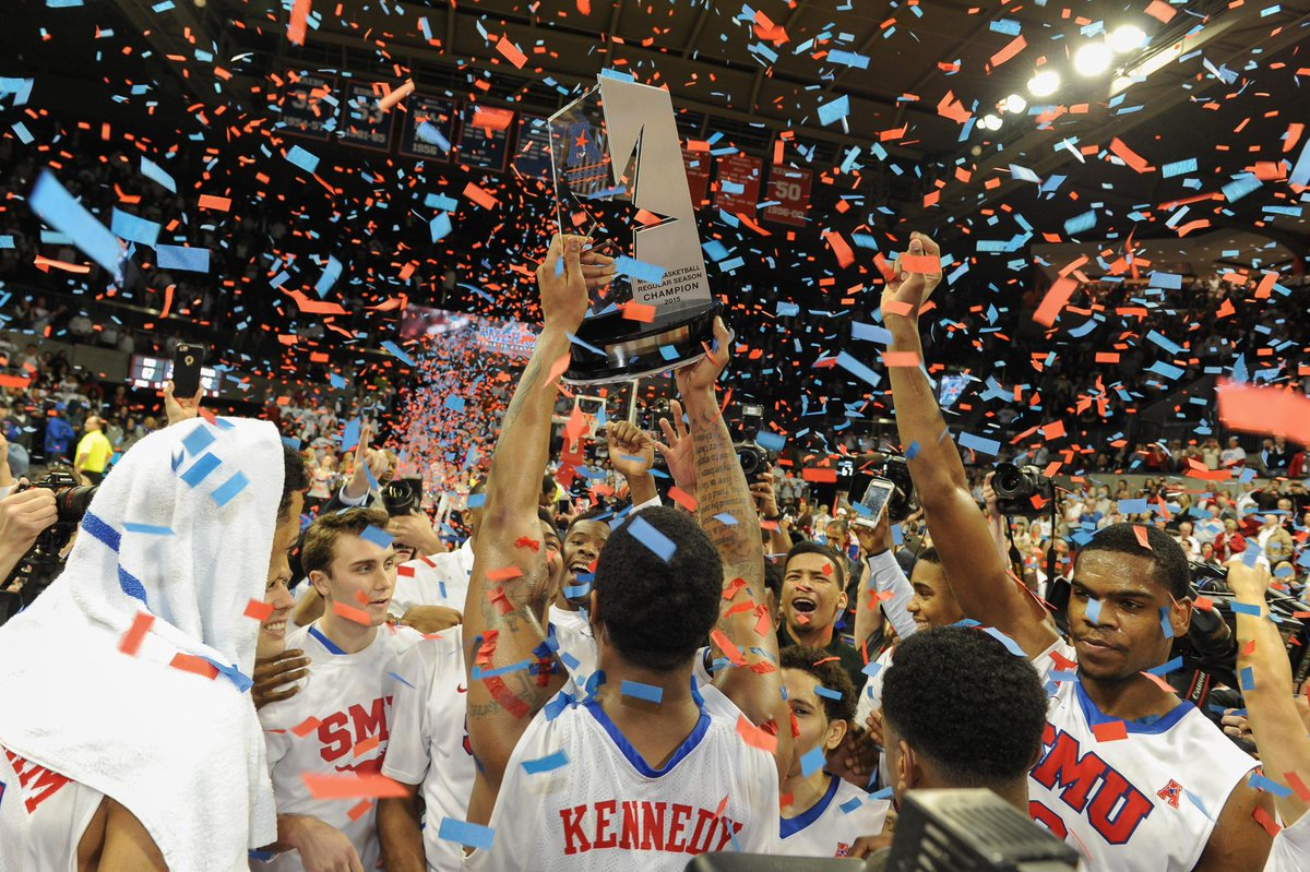 This is what victory looks like @SMU! Thanks, gentlemen, & enjoy the trophy. Great shot from Clayton Smith #PonyUp http://t.co/1RGrHHCPLR