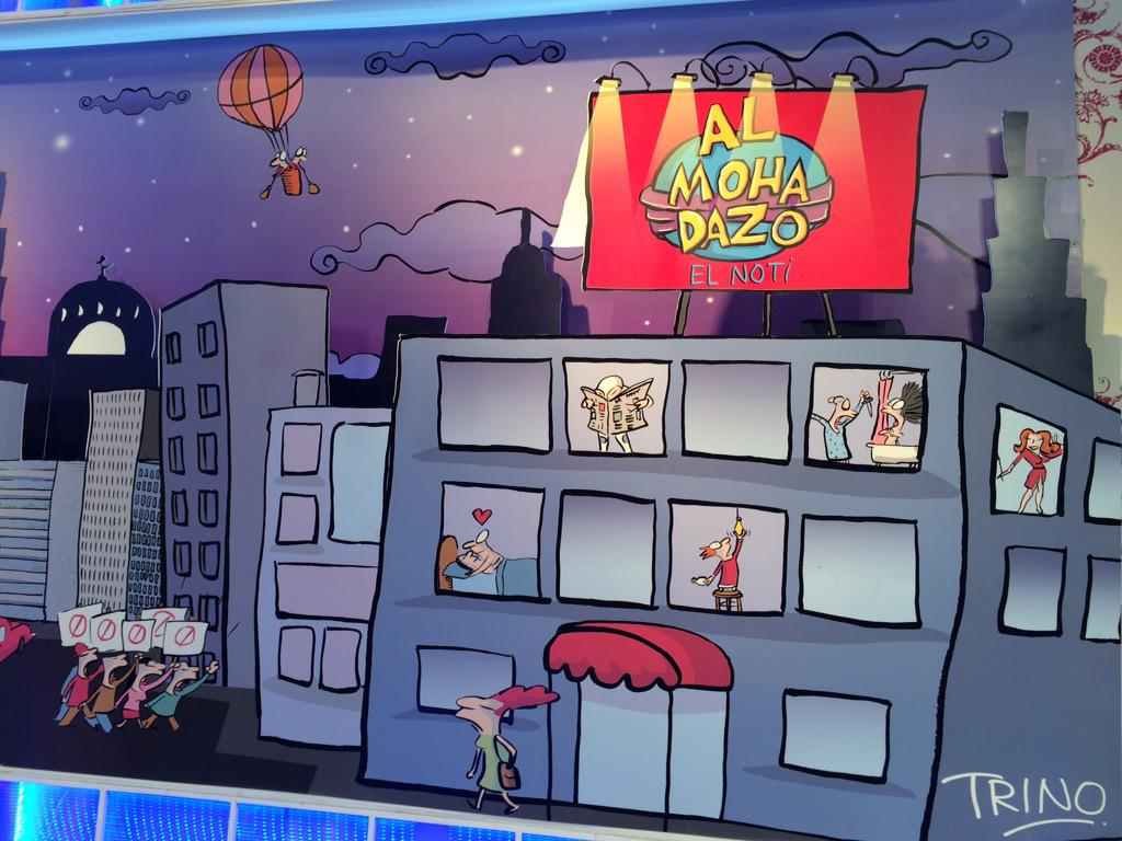 Irais Rasgado (@iraisrs): Gracias @trinomonero por el increíble mural para nuestro @almohadazo http://t.co/OCdM7CnEZA
