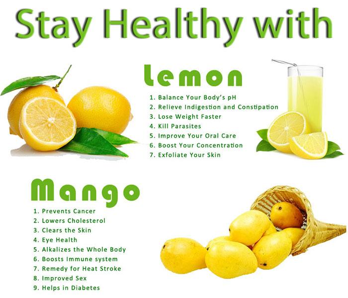 Stay healthy with lemon and mango #health #fruits #tips - scoopnest ...