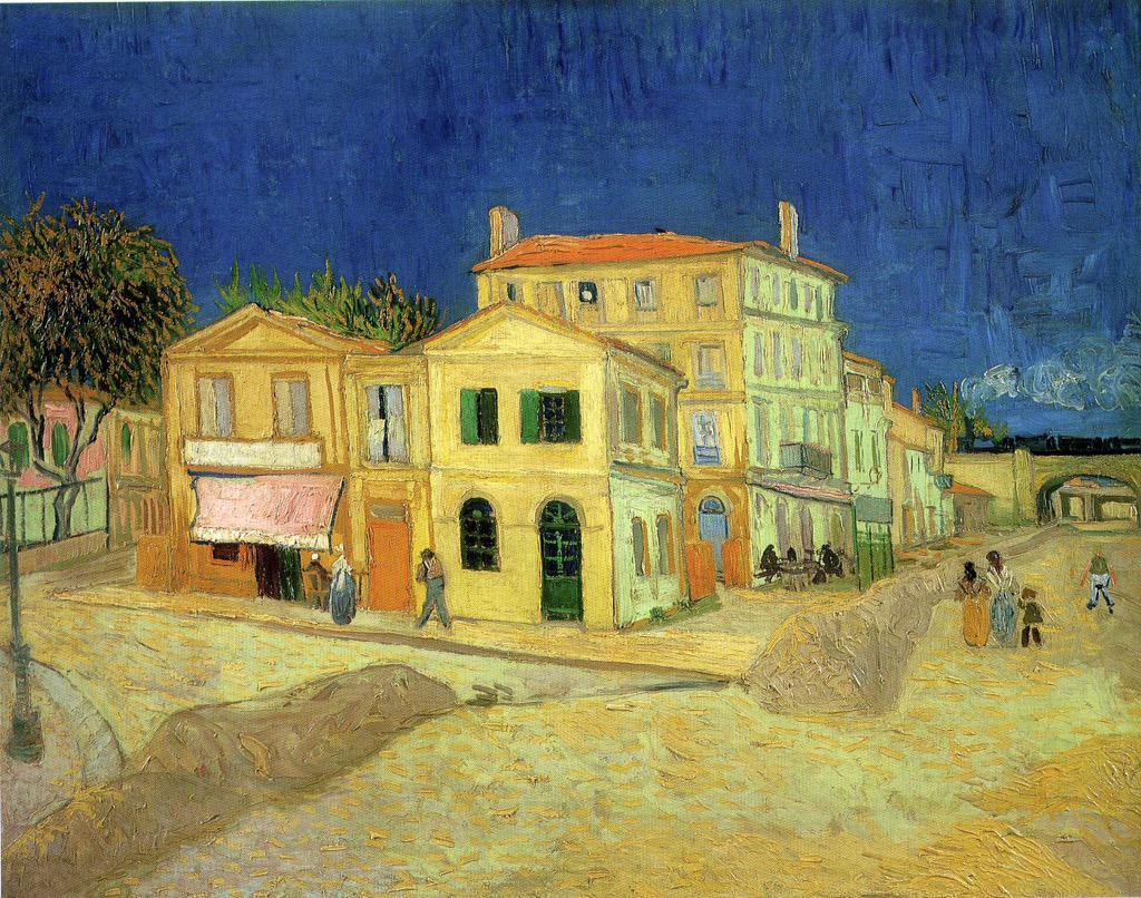 """@VicoLudovico: #PostImpressionism #DonneInGiallo #ArtLovers  Vincent van Gogh The Yellow House,1888   @Asamsakti http://t.co/NDapZBuSPg"""