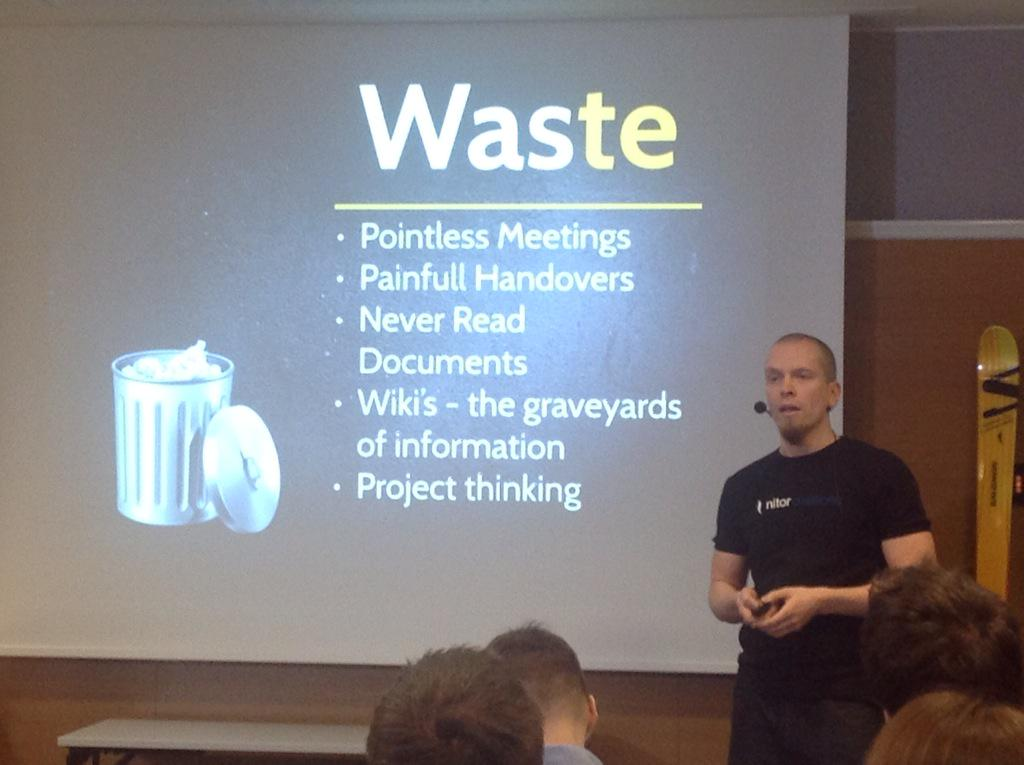 Waste in organizations by @v3rtti #scanagile I totally agree! #hrsome http://t.co/ZbV5y33yNP