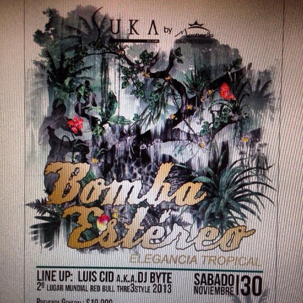 Suka Club (@SukaMonticello): Recuerda @Karol_LuceroV este sábado 30 no dejes apagar el fuego junto a @bombaestereo en SUKA http://t.co/ZrdaMf9bNo