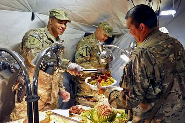 Grateful for those who are away from their families so we can safely be with ours. Thank you and #HappyThanksgiving! http://t.co/8mAsfu7DRa