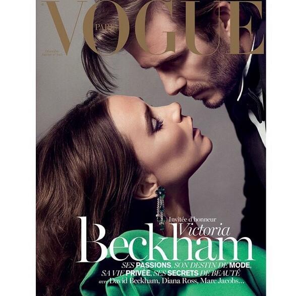 RT @KCDworldwide: LOVE STORY @victoriabeckham guest edits @VogueParis Dec/Jan issue & poses w husband #davidbeckham - by Emmanuelle Alt http://t.co/xEYJfwYHMh