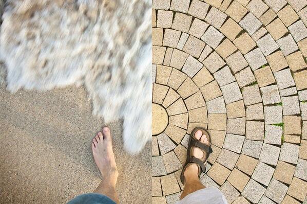 Одна нога здесь, другая там. Интересный фотопроект Александра Клочкова. http://t.co/RUD45dAz8B