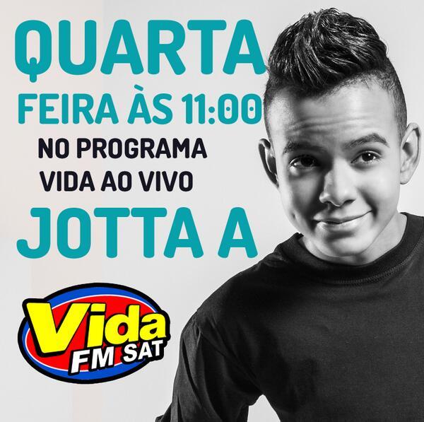 Amanha o cantor @Eujottaa estará na cidade de São Paulo participando do programa Vida ao Vivo da rádio @vidaoficial! http://t.co/3QgycFhZgY