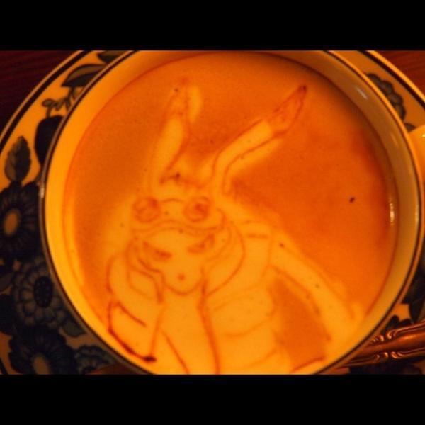 サマーウォーズのキングカズマ ラテアート #latteart  #ラテアート
