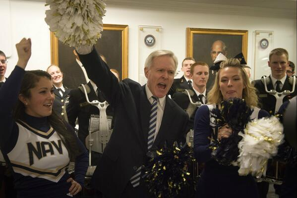 #SECNAV cheers on Navy at a Pentagon pep rally held today in advance of Saturday's Army-Navy game. #GoNavy #BeatArmy http://t.co/vVWjIR4nkC