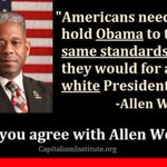 "RT @PhxKen: ""AMERICANS NEED TO HOLD OBAMA TO THE SAME STANDARDS THEY WOULD FOR A WHITE PRESIDENT"" - ALLEN WEST http://t.co/ZGB3OVlfvv"
