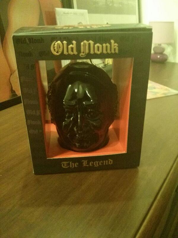 The new limited edition bottle of Old Monk. It's called The Legend. I need to get this one. http://t.co/MkRfgwEVXi