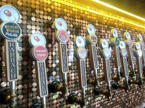 Come help us welcome @karbachbrewing to Austin! Meet the Karbach crew from 6-8pm and check out this handsome wall! http://t.co/fZXx7i9D15