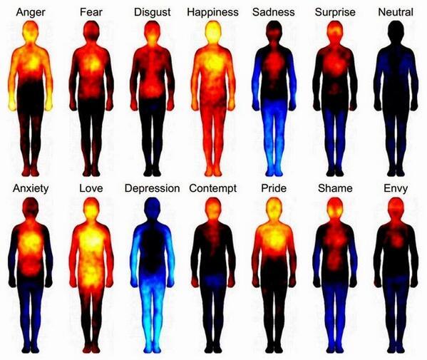 مشاركة من الصديقة @HaifaEsk: تصوير حرارى لجسم الإنسان اثناء اختباره لعواطفه المختلفة والتغييرات الخاصة بحالته النفسية http://t.co/szUGtwqVDB