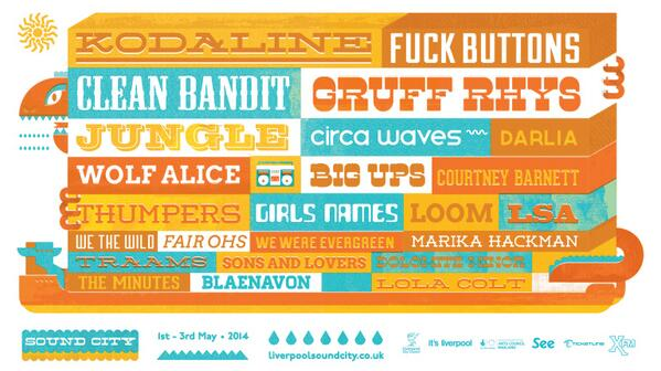 BEHOLD! The first acts for #SoundCity14! http://t.co/VgOJ6JdcSd