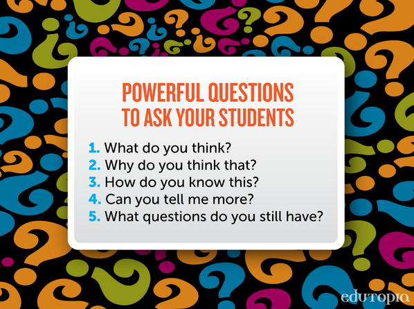 RT @j0hnburns: RT @BST_Principal: The five questions that really make a difference in any classroom via  @edutopia http://t.co/dCWPIOWivN #SISrocks
