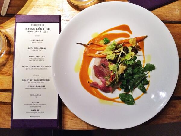 3rd course by @GG30000 @Departure_PDX for our #food4humans dinner: grilled @carmanranch beef sirloin! http://t.co/3CJgJepUNI