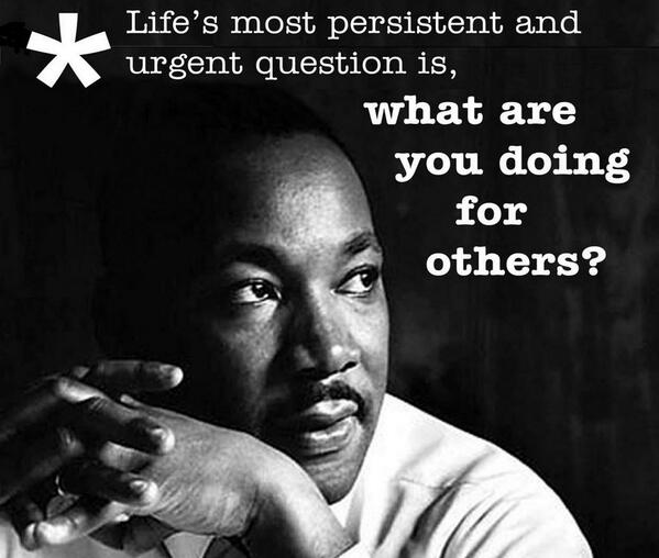 Here's an inspirational quote for MLK Day. http://t.co/kTdQzTm3Xv