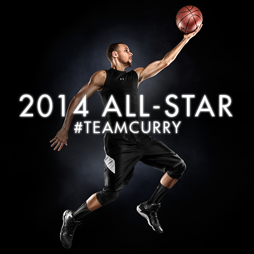We're on Team @StephenCurry30 ! 2014 #AllStar #TeamCurry #GivemeStrength http://t.co/eToPknhfjk