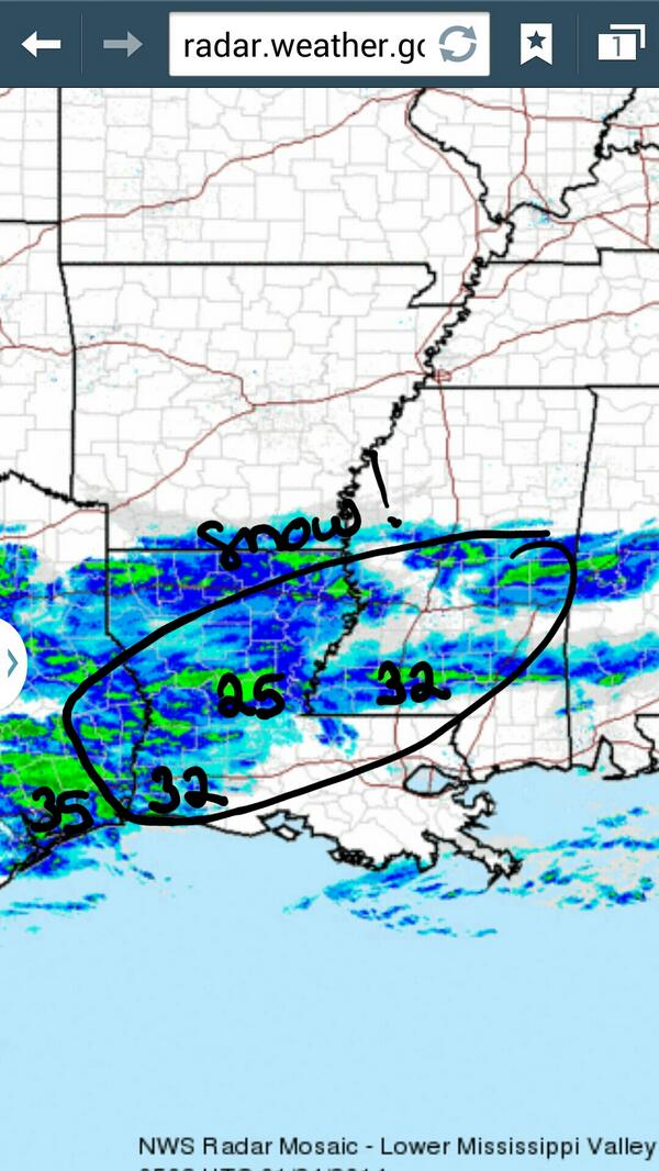Snow to our north and west #nola #neworleans #fb http://t.co/JCRVTSmWLz