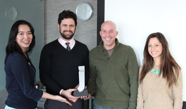 The @JiveSoftware partner of the year award home in NYC! @social_edge @RuthNeighbors @Andrew_Kratz @amaaraaaa #socbiz http://t.co/mRN6hYDrbg