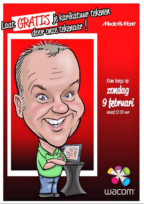 Ook een gratis karikatuur van jezelf? Kom as zondag naar #mediamarkt_heerlen! Mogelijk gemaakt door #wacom http://t.co/2cIrnlMe7e
