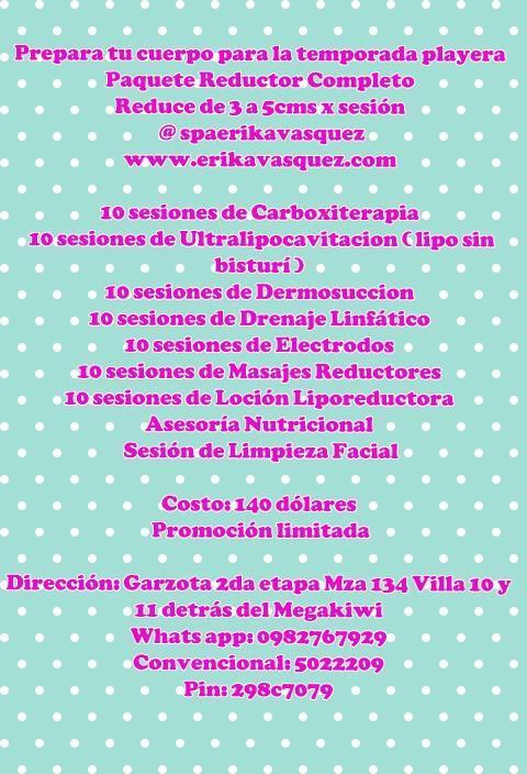 Spa Erika Vásquez (@SpaErikaVasquez): Preparate pa la temporada Rt @carolinajaume @maferpincay1 @AmbarMont @pacogemelo @KathRangel @MAURICIOTVUNO http://t.co/w8Xps3jMt4