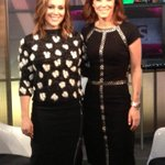 RT @SRuhle: Talking @SuperBowl style w/@Alyssa_Milano on @BloombergTV she's heating up the stands w/ @TouchByAM http://t.co/gVlvAMysWy