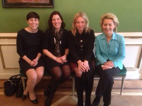 They are the defense ministers of Norway, Sweden, Netherlands and Germany. http://t.co/hk38pTD7Zy