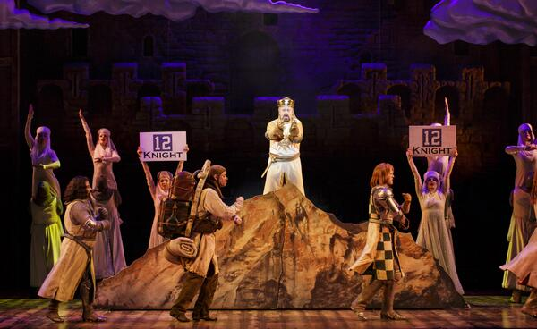 Another @Seahawks inspired scene from our current production of Spamalot! #12thman #gohawks http://t.co/TfDWpk7F7H
