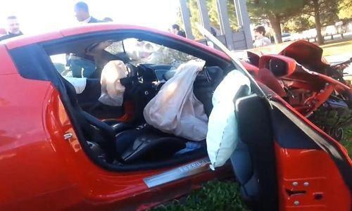 Bff3MhYCAAAyS J AC Milans MBaye Niang had his Ferrari totalled in France while on loan at Montpellier [Video & Pictures]