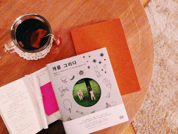 설 연휴가 끝난 오늘에서야 드디어 겟! 올드독 정우열 작가님과 풋코, 소리의 오손도손 함께 사는 이야기 <개를 그리다> ! 갖고 있기만 해도 행복한 책이예요. 한장 한장 잘 만나보겠습니다 :-) http://t.co/ukujoazKnX